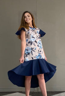 Blue Flower Summer Dress