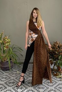 Brown Batik Top.